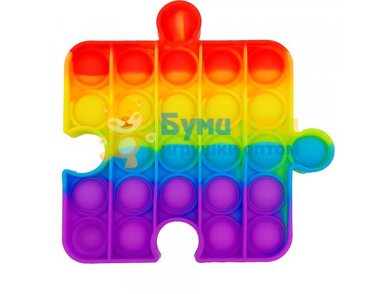 Сенсорная игрушка - антистресс Залипательные пузырьки Радужный пазл