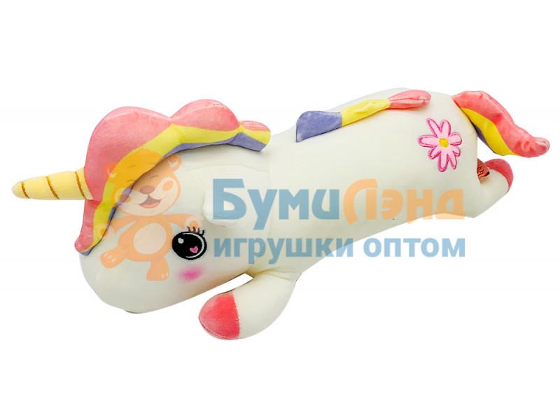 Мягкая игрушка Единорог спящий, с цветком