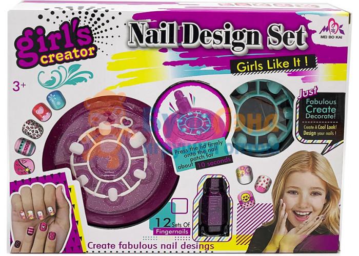 Набор для дизайна ногтей с держателем для лака