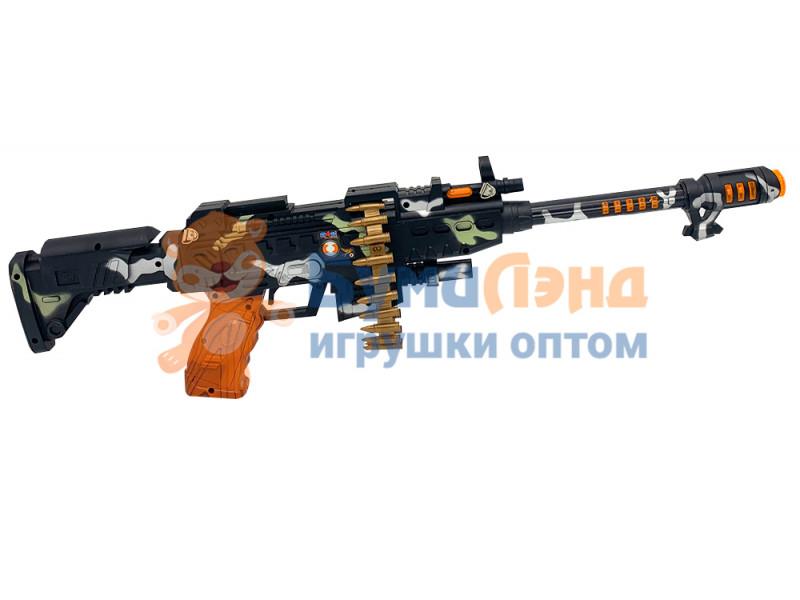 Детская музыкальная винтовка с обоймой