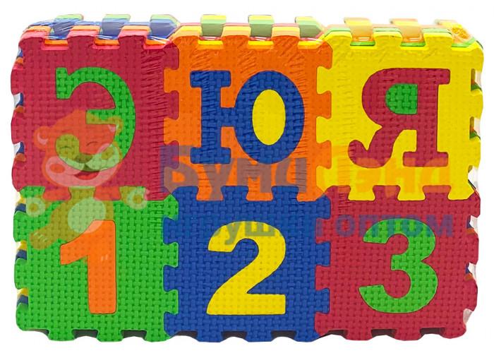Коврик - пазл для детей, Цифры и буквы