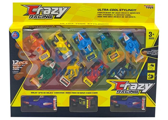 Набор гоночных машинок в коробке, 12 шт
