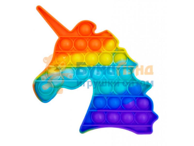 Сенсорная игрушка - антистресс Залипательные пузырьки Радужный Единорог