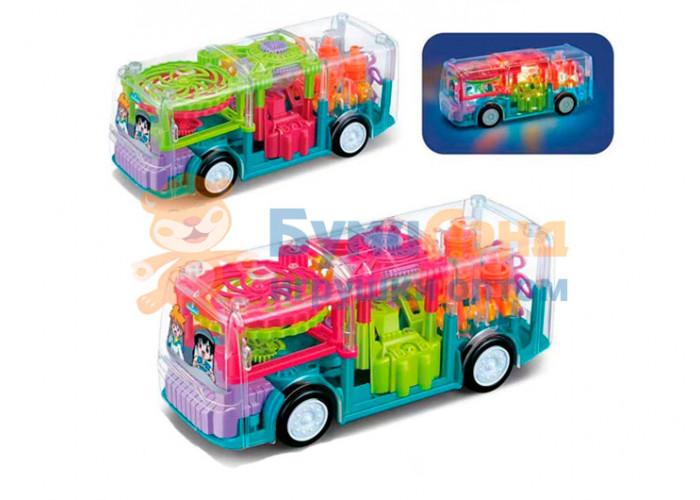 Прозрачный автобус с шестерёнками
