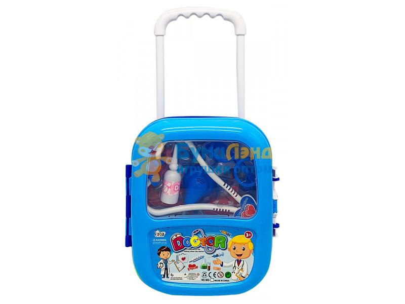Игровой набор Доктор в чемодане с выдвижной ручкой