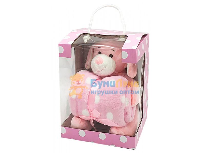 Мягкая игрушка + плед в подарочной коробке, в ассортименте