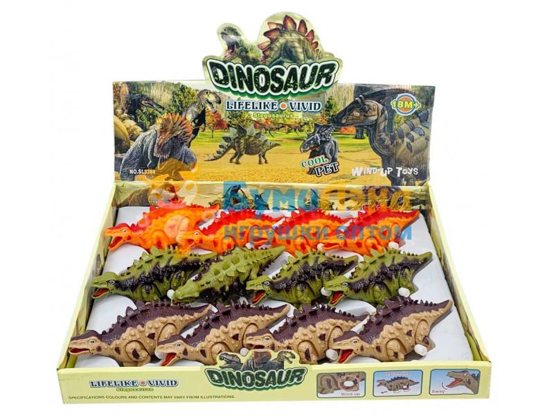 Заводные динозавры, 12 шт