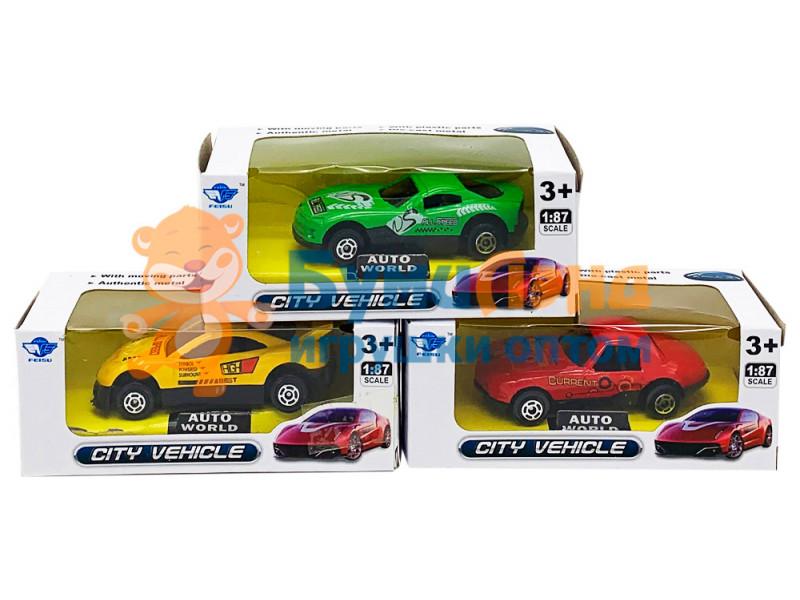 Мини-модели авто в коробке, микс
