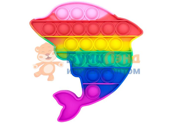 Сенсорная игрушка - антистресс POP IT Залипательные пузырьки Дельфин