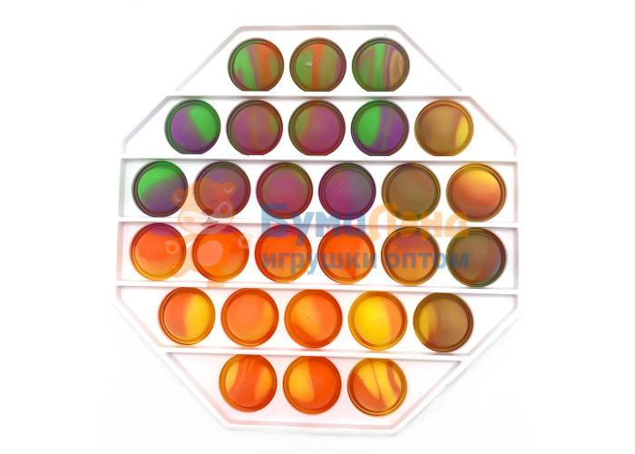 Сенсорная игрушка - антистресс Залипательные пузырьки Пластик Многоугольник