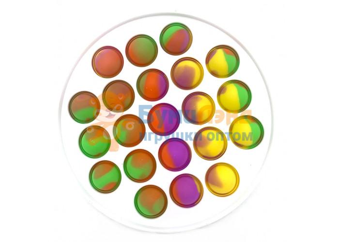 Сенсорная игрушка - антистресс Залипательные пузырьки Пластик Круг