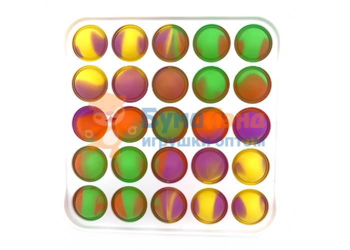 Сенсорная игрушка - антистресс Залипательные пузырьки Пластик Квадрат