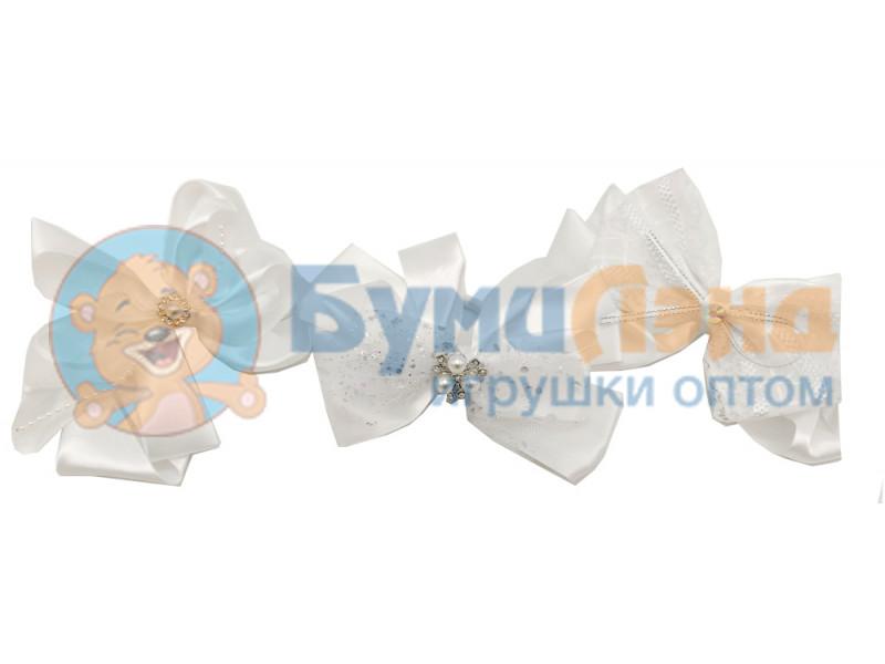 Белые бантики, в ассортименте, 12 шт