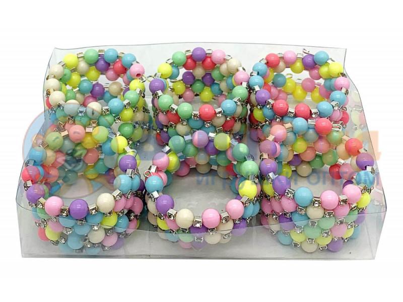 Детские браслеты из бусин в пластиковой упаковке, 12 шт