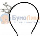 Ободок с короной из страз, 12 шт