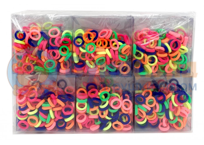 Набор мини резинок в пластике, 12 шт