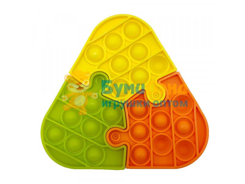 Сенсорная игрушка - антистресс Залипательные пузырьки 3 пазла в 1
