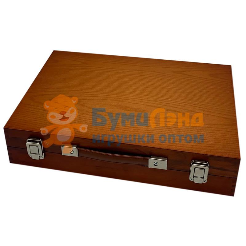 Набор для рисования в деревянном кейсе, мега