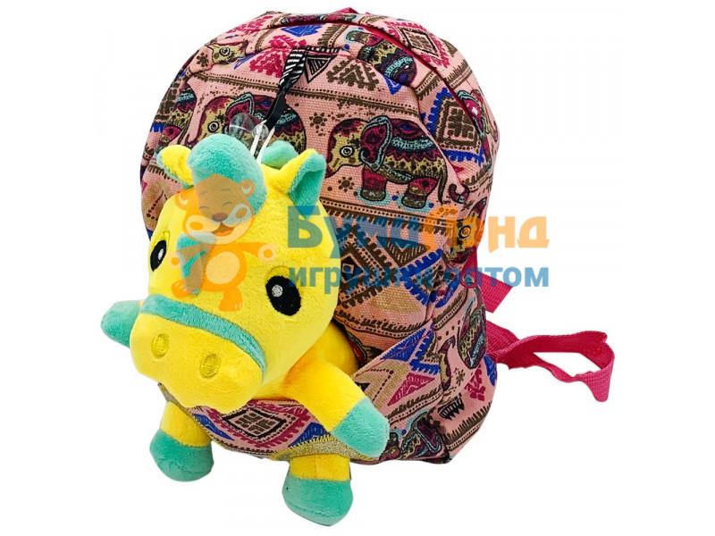 Детский рюкзак с игрушкой, в ассортименте