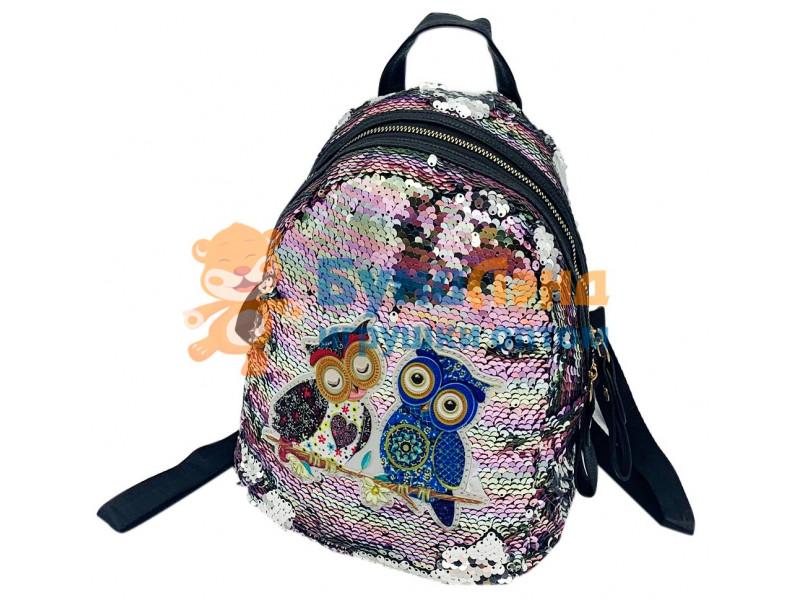 Детский рюкзак с пайетками, в ассортименте