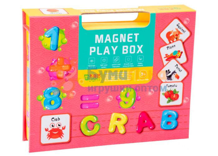 Магнитные пазлы в чемоданчике Цифры и буквы