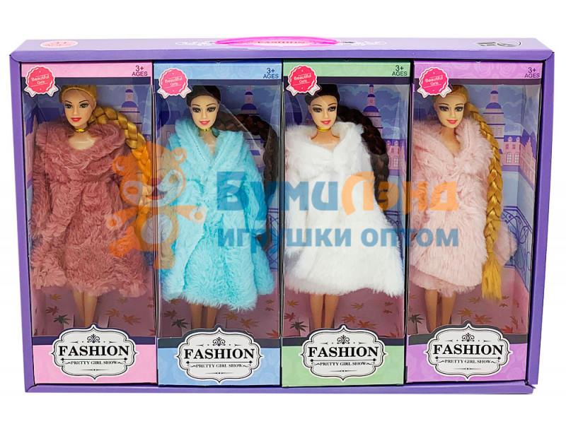 Куклы, зимняя серия, 4 шт