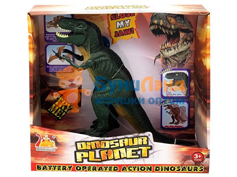 Динозавр в подарочной коробке