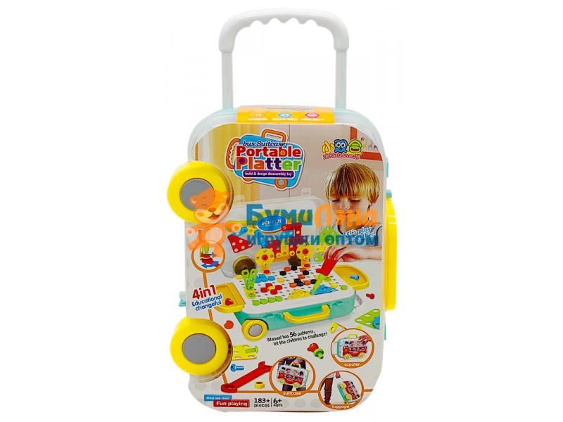 """Игровой набор """"Мозайка с отверткой в чемодане"""" XL"""