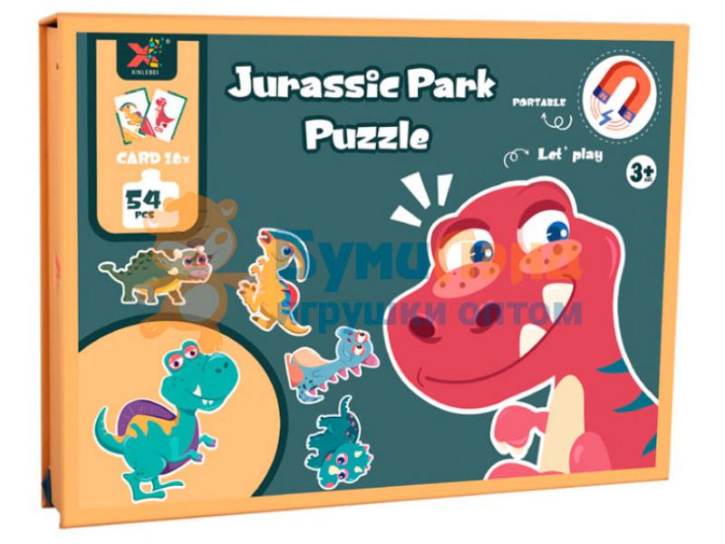 """Магнитные пазлы """"Динозавры"""", 54 детали"""