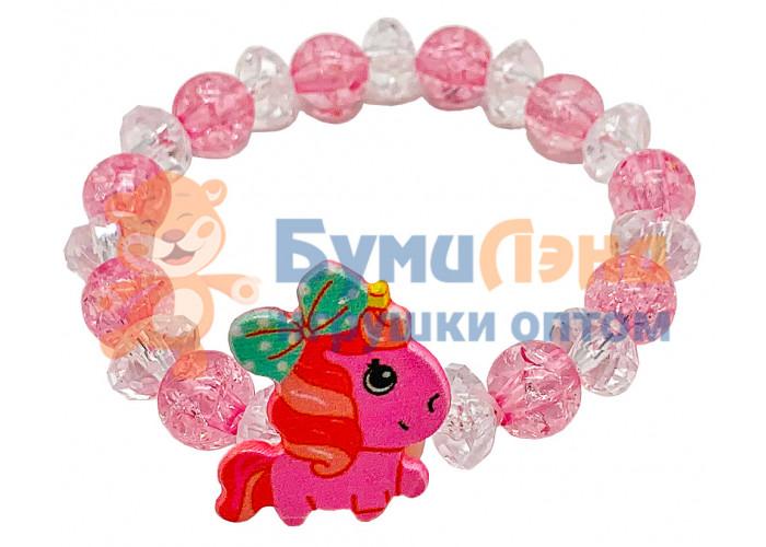 Детские браслеты из бусин, 10 шт