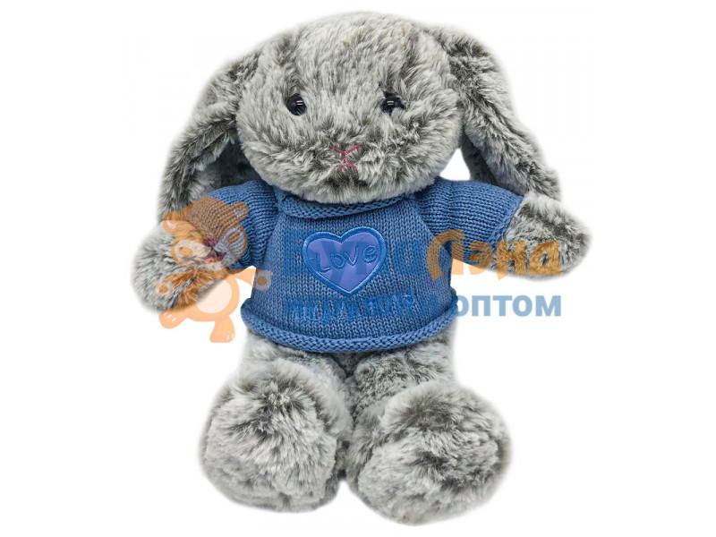 Мягкая игрушка Зайка в свитере, 30 см