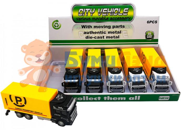 Коллекция транспортных автомобилей, 6 шт