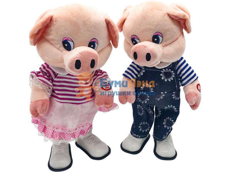 Музыкальные танцующие свинки - мальчик и девочка