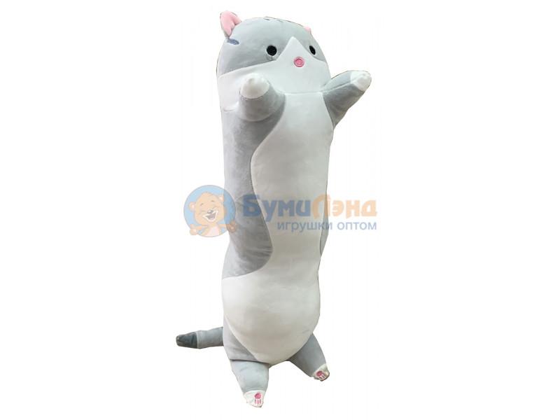 Мягкая игрушка - подушка Котик 110 см, в ассортименте