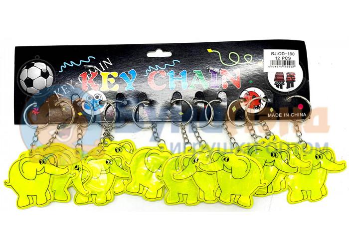 Светоотражающие брелоки Животные, 12 шт, в ассортименте