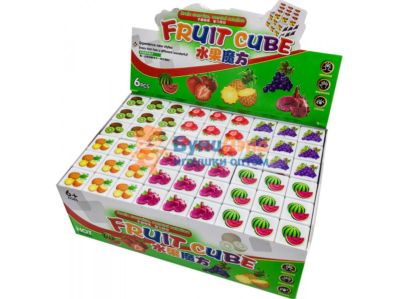 Кубик Рубика Фрукты, 6 шт