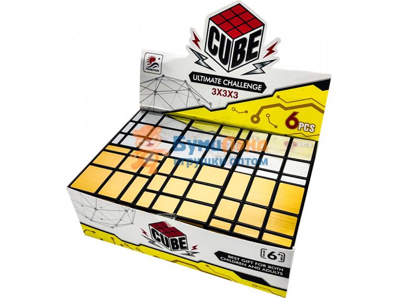 Кубик Рубика, металлик, 6 шт