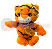 Мягкая игрушка с подвеской Тигр с бантиком, 24 шт