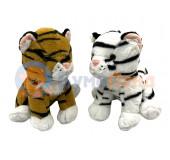 Тигр сидячий 24 см, микс