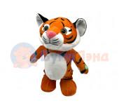 Музыкальный танцующий полосатый тигр 28 см, микс