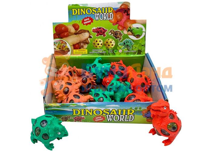 Игрушка - антистресс Разноцветные динозаврики, 12 шт