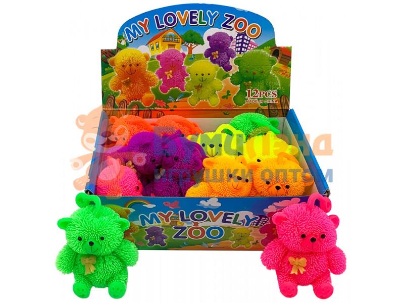Игрушка - антистресс Разноцветные мишки, 12 шт