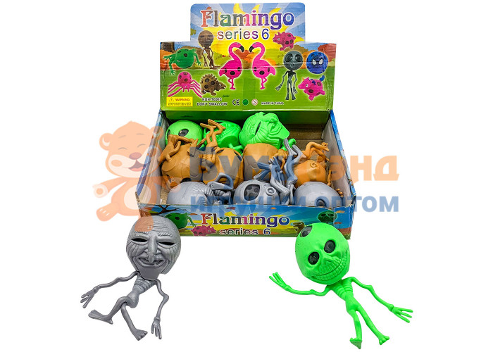Игрушка - антистресс Разноцветные зомби, 12 шт
