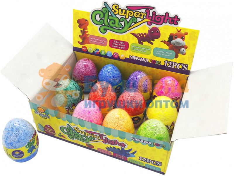 Умный пластилин в яйце, 12 шт